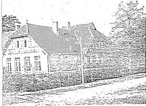 Die Schule im Jahr 1909.